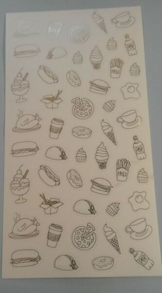 Happy Planner FOOD Turkey Pizza Hot Dog taco ice cream stickers MAMBI 256641 $1.00