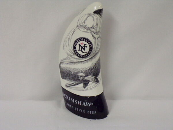 ORIGINAL North Coast Brewing Scrimshaw Pilsner Style Beer Tap Handle