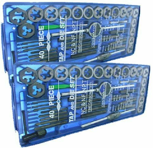 TAP AND DIE Set 80 piece SAE amp; METRIC w Case Screw Extractor Remover Chasing NEW
