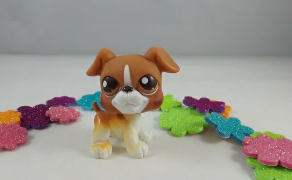 Littlest Pet Shop Brown and White Accented Boxer Dog #25 Variant Brown Eyes $11.99