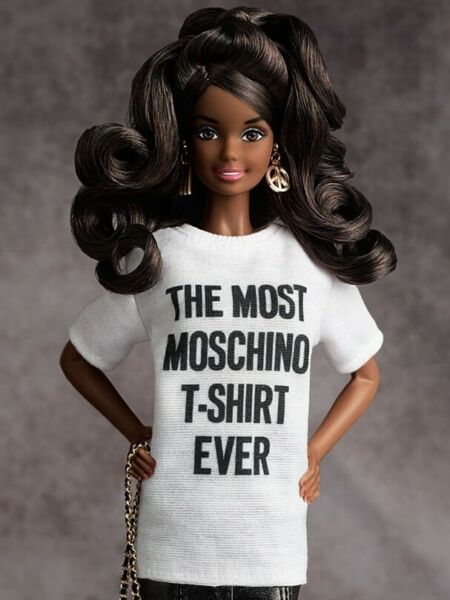 NEW 2015 GOLD LABEL Moschino Barbie Doll White T Shirt only. GBP 49.99