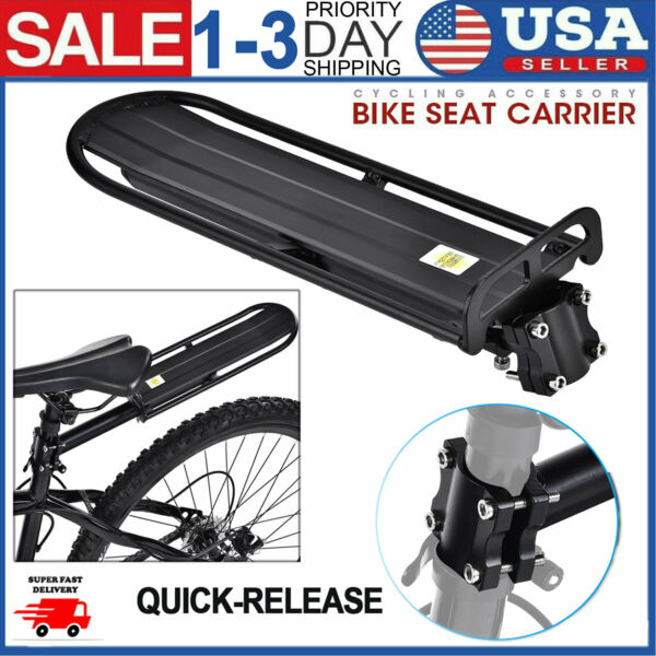 Alloy Bicycle Mountain Bike Rear Rack Seat Post Mount Pannier Luggage Carrier US $21.59