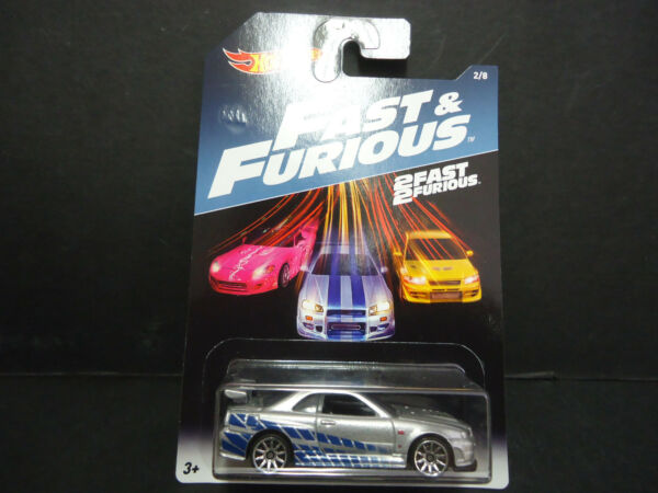 Hot Wheels Nissan Skyline R34 Fast and Furious DWF68-999A 164
