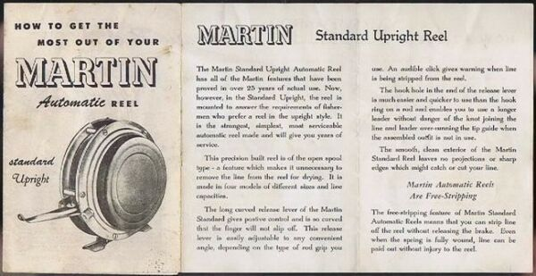 Vintage Martin Automatic Reel Flyer vintage fishing collectible $6.99