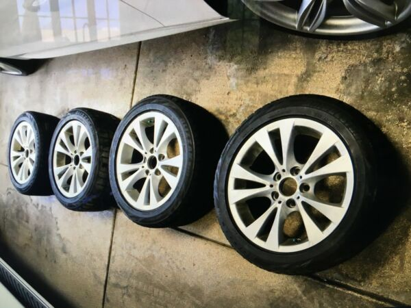 2009 BMW 535i OEM Set of Rims And Blizzak Snow Tires with tire pressure monitors