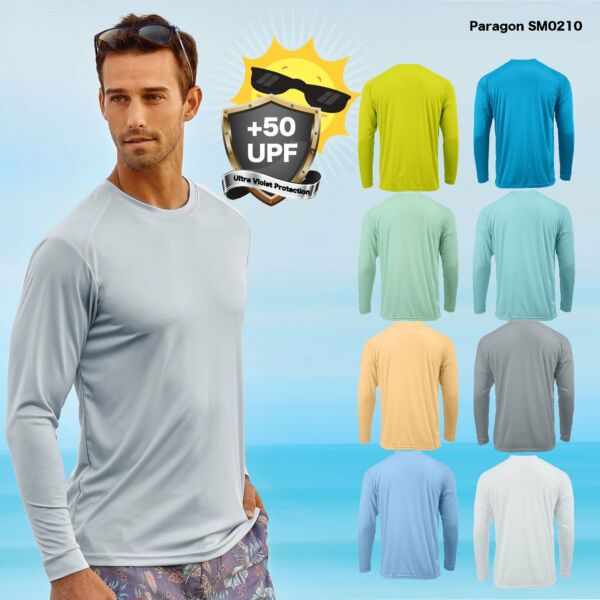 Paragon Adult Long Sleeve UPF 50 T Shirt Fishing Boat UV Protection SM0210