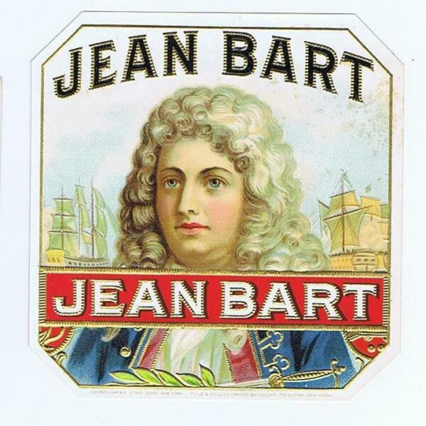Jean Bart original outer cigar box label  French naval hero