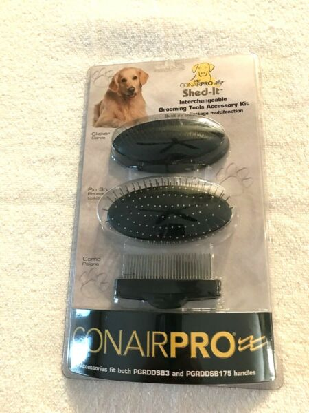 ConairPro Dog Shed It Interchangeable Grooming Tools Accessory Kit NEW $25.00