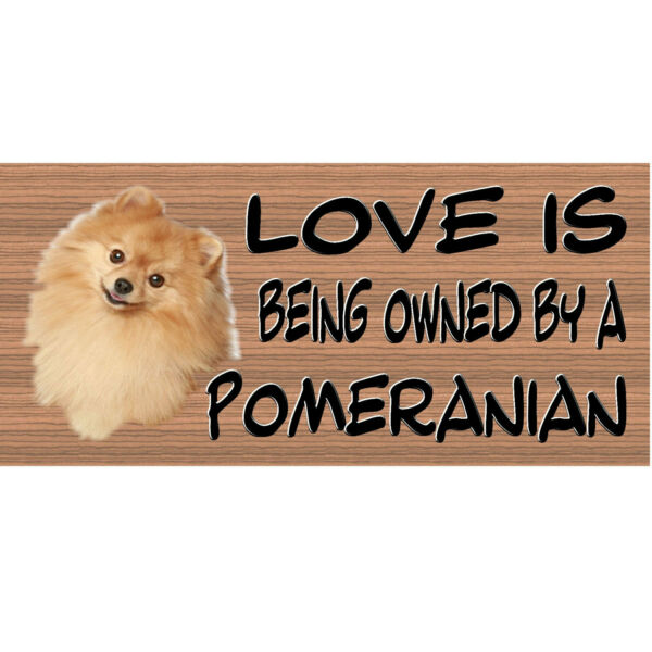 Wood Signs Pomeranian GS416 Wood Plaque Dog Signs GiggleSticks $10.99