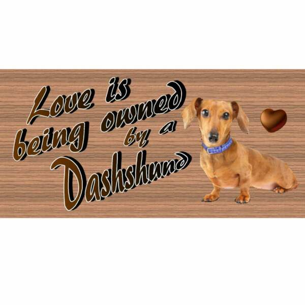 Wood Signs Dachshund GS1778 Wood plaque Primitive Dog signs GiggleSticks $14.99