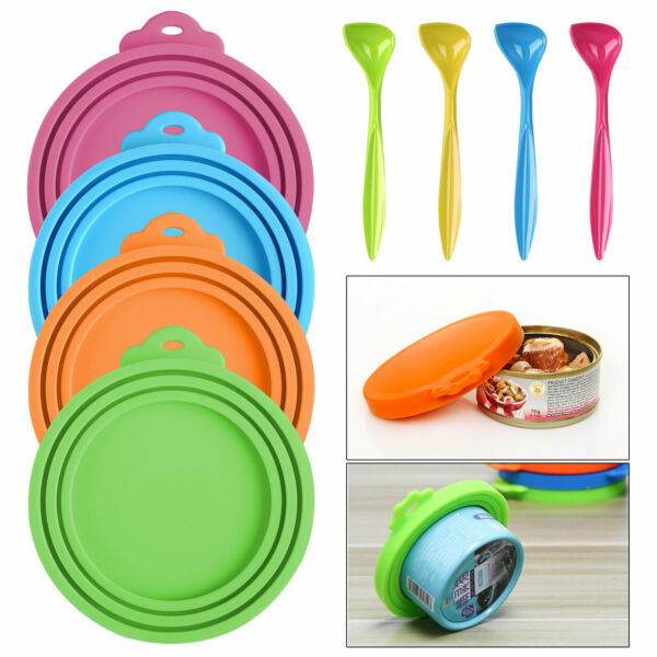 34Pcs Set Pet Food Can Cover Universal Silicone Cat Dog Food Can Lids BPA Free $12.97