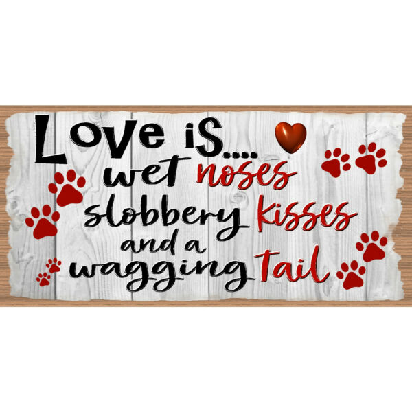 Dog Wood Signs Dog Plaque GS 1014XX Dog Signs GiggleSticks $14.99