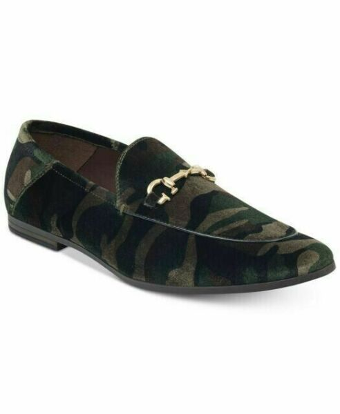 GUESS Men#x27;s Edwin5 Camo Slip On Loafers Brown 8.5M NIB $31.95
