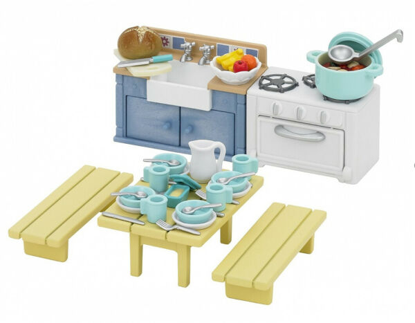 Sylvanian Families Calico Critters Rustic Kitchen Set