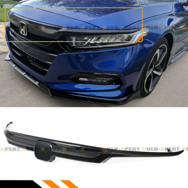 For 18-2020 10th Honda Accord LX EX Touring Carbon Fiber Look Sport Front Grille