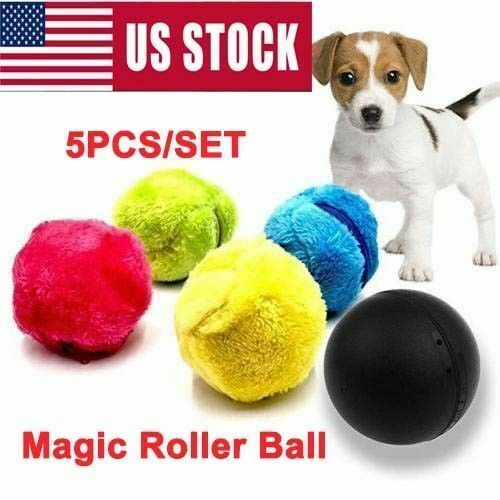 5PCSSET Magic Automatic Roller Ball Toy Puppy Roller Ball Pet Dog Cat Ball Toy $10.88