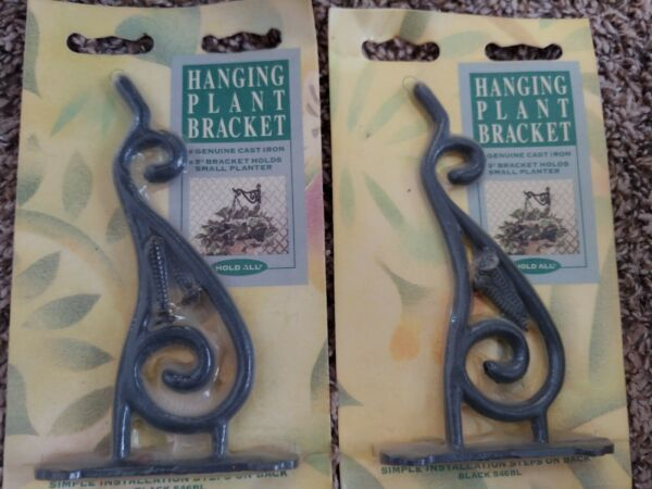 Two Cast Iron Plant Hanging Brackets 5