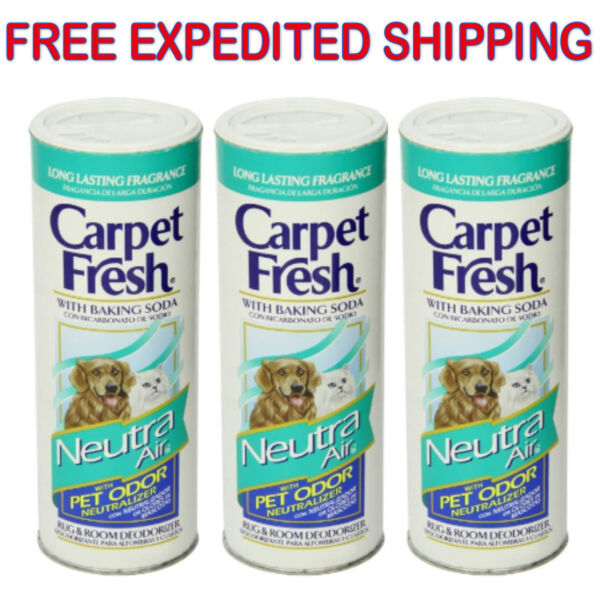 Carpet Fresh Room Deodorizer Home House Air Freshener Pet Odor Cleaner (3 Pack)