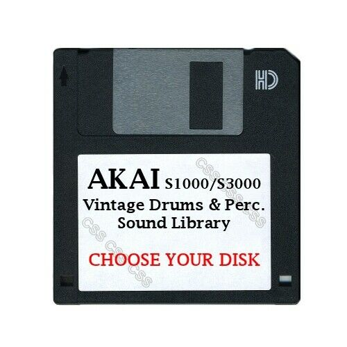 Akai S1000  S3000 Floppy Disk Vintage Drums & Perc. Library Choose Your Disk $14.99