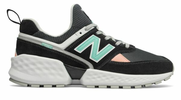 New Balance Men's 574 Sport Shoes Black with White MS574GNB Size 10