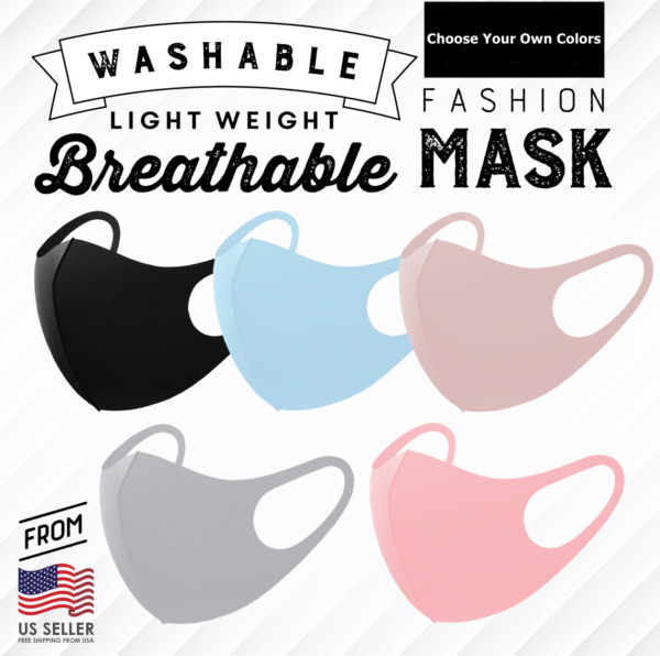 Choose Your Own Set of 3 Fashion 3D Face Cover Mask Washable Reusable Breathable $8.99