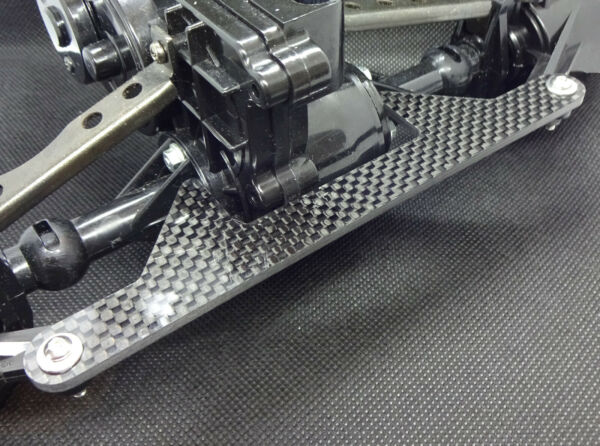 Tamiya Clodbuster carbon 1 piece rear steering lockout plate GBP 12.00