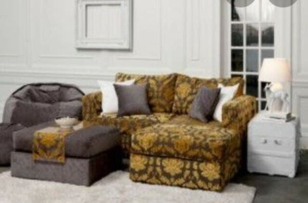 Lovesac 6 Series Sactional Gold Damask Courtney Cachet CUSTOM covers $1349.00