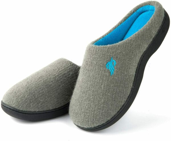 Wishcotton Classic Two-Tone Slippers for Women Ladies' Memory Foam House Shoes $20.29