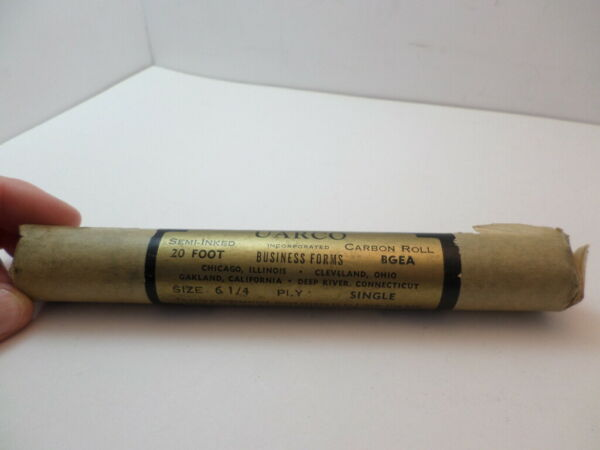 New roll of vintage Uarco semi inked carbon roll 6 1 4 single ply $12.00