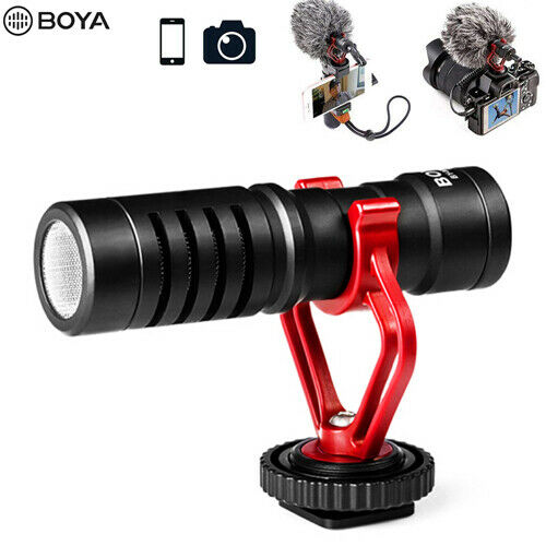 BOYA BY-MM1 Shotgun Microphone 3.5mm TRS TRRS Output for Smartphone Camera DSLR