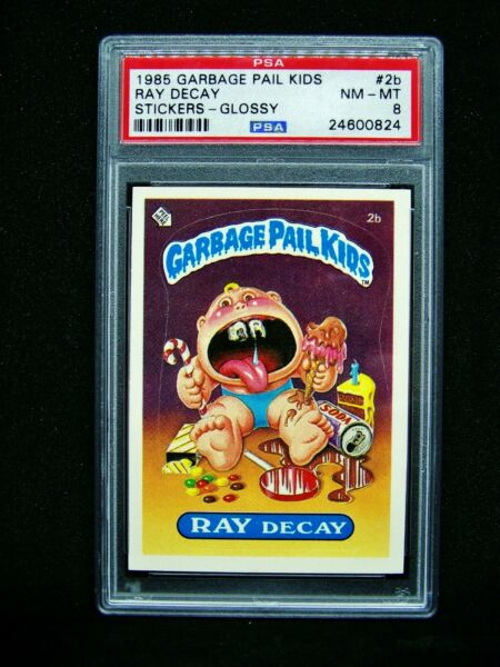 GARBAGE PAIL KIDS 1985 1st Series #2b Ray Decay GLOSSY 1* OS1 Graded PSA 8 NMMT