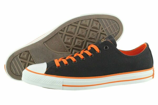 Converse Chuck Taylor All Star Ox Low Top Sneaker Black Orange Halloween 9 Men