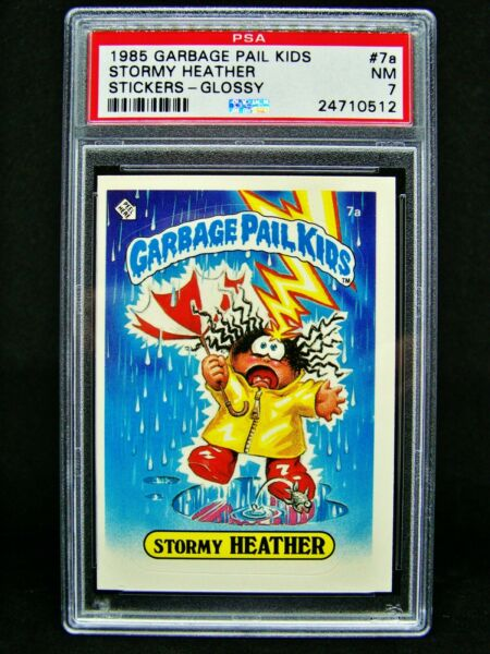 GARBAGE PAIL KIDS 1985 1st Series #7a Stormy Heather GLOSSY 2** OS1 Graded PSA 7