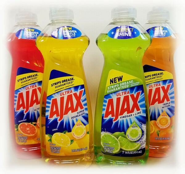 Ajax Ultra Dish Washing Detergent Liquid Soap 14oz. House Kitchen Cleaner Grease