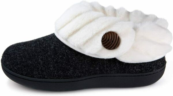 Wishcotton Women's Cute Comfy Fuzzy Felt Memory Foam Slippers Indoor Outdoor Non $54.82