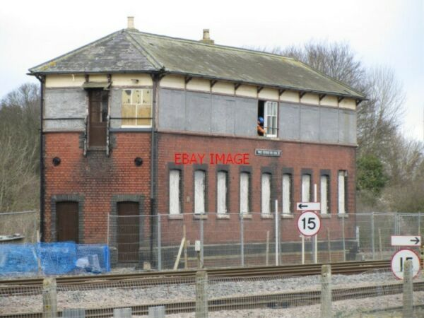 PHOTO PRINCES RISBOROUGH OLD SIGNAL BOX UNDER RESTORATION 09 02 14