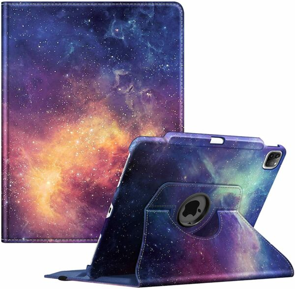 360 Rotating case for iPad Pro 12.9 4th Gen 2020 Smart Stand Cover Pencil Holder