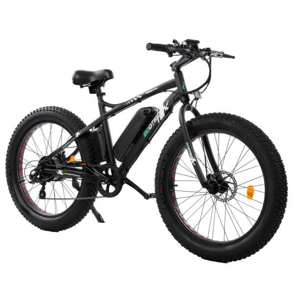 26quot; 500W 36V Black Electric Fat Tire Mountain Snow Bicycle Beach E Bike LCD $855.99