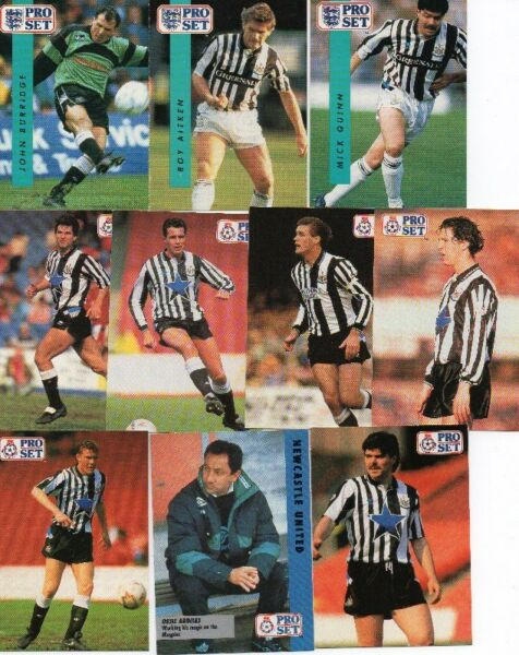 NEWCASTLE UNITED all ProSet cards produced