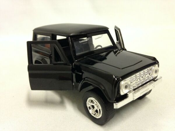 1973 FORD BRONCO HARD TOP 5quot; DIECAST 1:32 PULL BACK JADA TOY JUST TRUCK BLACK $5.88