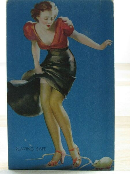 1940s Mutoscope Yankee Doodle Girls Pinup Arcade Multiple Picture Playing Safe