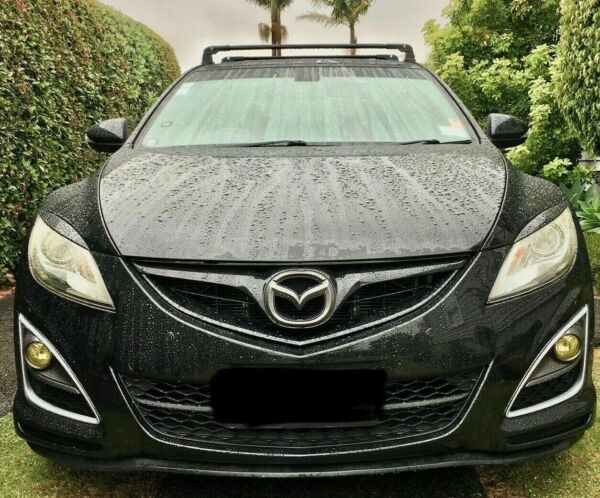FITS MAZDA 3 2010 BLACK ALU V3 ROOF RACK CROSS BARS CROSS RAIL LOCKABLE $107.91