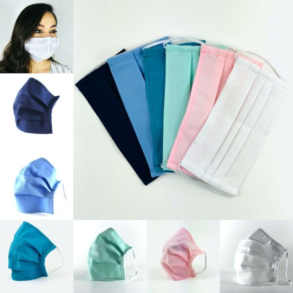 4 Pack - Washable & Reusable Face Masks with Nose Wire