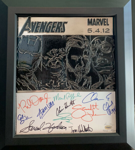 Avengers Movie Metal Art Signed By The Cast - Only 25 Ever Produced - RARE!!