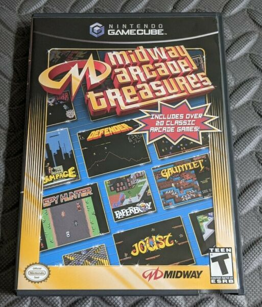 Midway Arcade Treasures for Nintendo GameCube COMPLETE CIB Tested