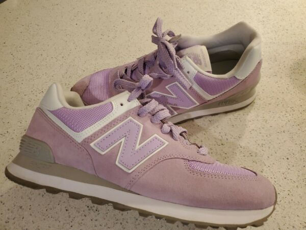 New Balance 574 Women's Classic Walking Running Sneakers Size 9.5 pink and gray