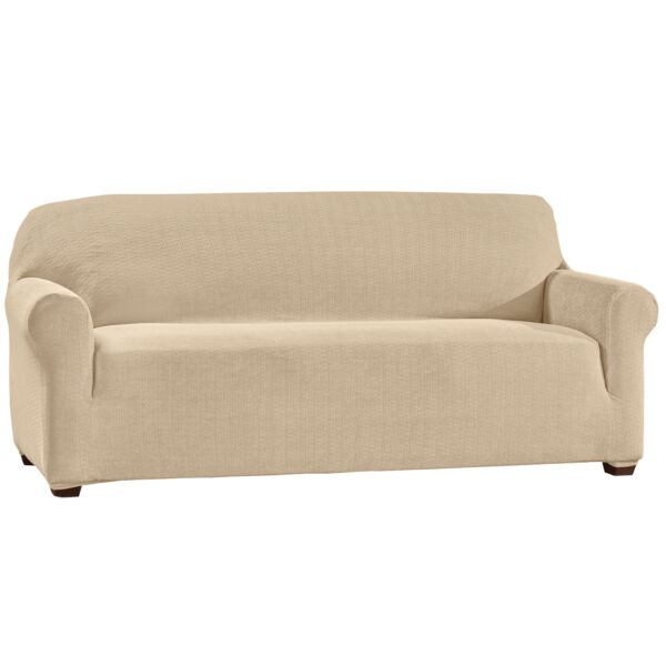 Machine Washable Basketweave Stretch Furniture Slipcover $14.99