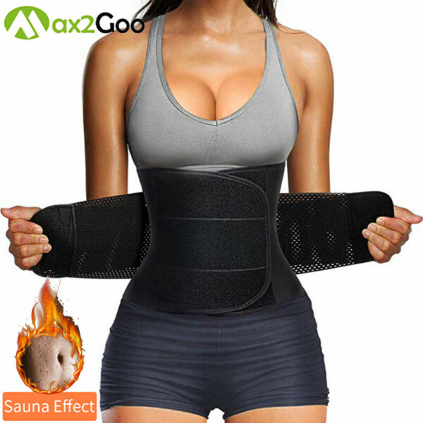 Lady Sauna Sweat Waist Trainer Body Shaper Tummy Slimmer Belt Corset Weight Loss