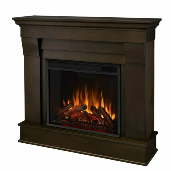 Real Flame Chateau Electric Fireplace in Dark Walnut