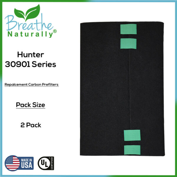 2 Pack Hunter 30901 Replacement Carbon Filters for Hunter Series Air Purifiers $19.99
